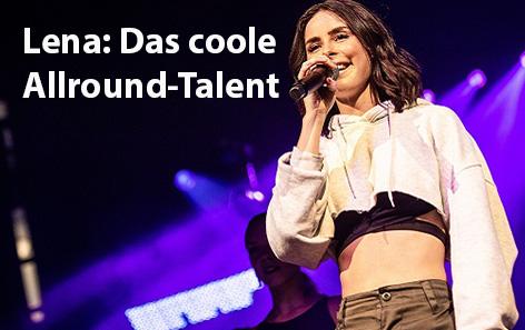Lena bei einem Konzert