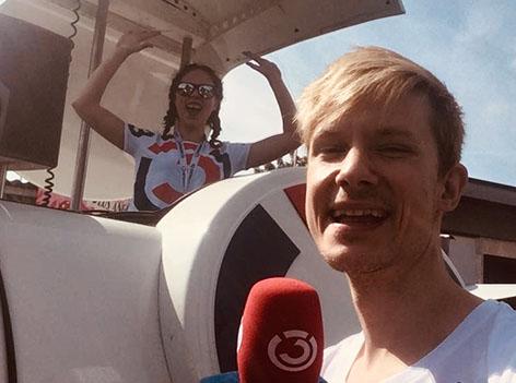 Max Bauer und Stephanie Hausladen vom Ö3-Spektakel-Team
