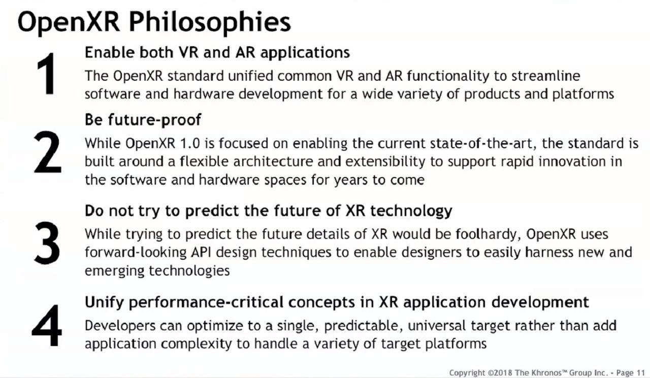 OpenXR Philosophies