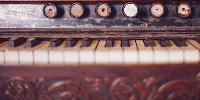 Nahaufnahme Klaviertaste