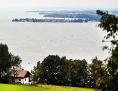 Blick über den Bodensee auf das bayerische Lindau