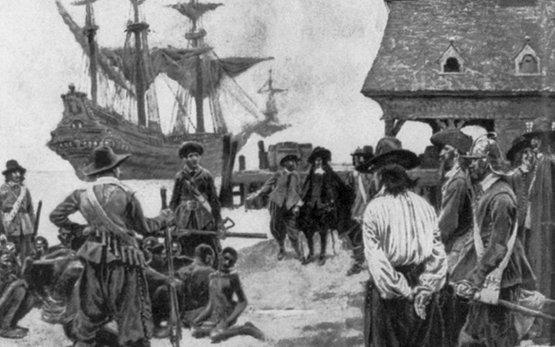 Ankunft der ersten Afrikaner in Jamestown 1619