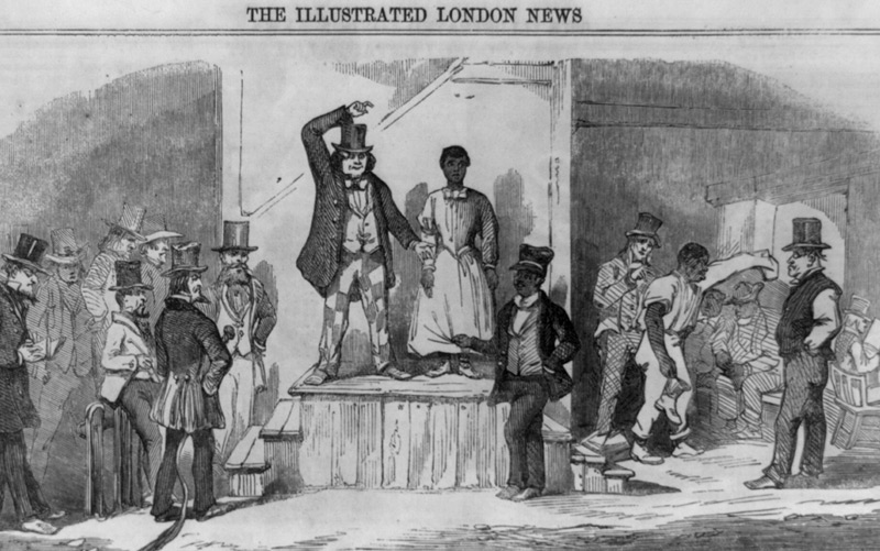 Zeitungsbericht über eine Sklavenauktion in Richmond/Virginia im Jahr 1865