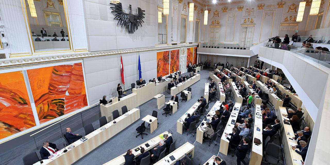 Plenarsaal des Nationalrats in der Hofburg