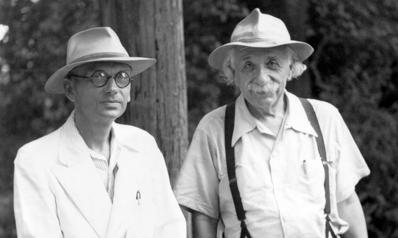 Kurt Gödel und Albert Einstein in Princeton