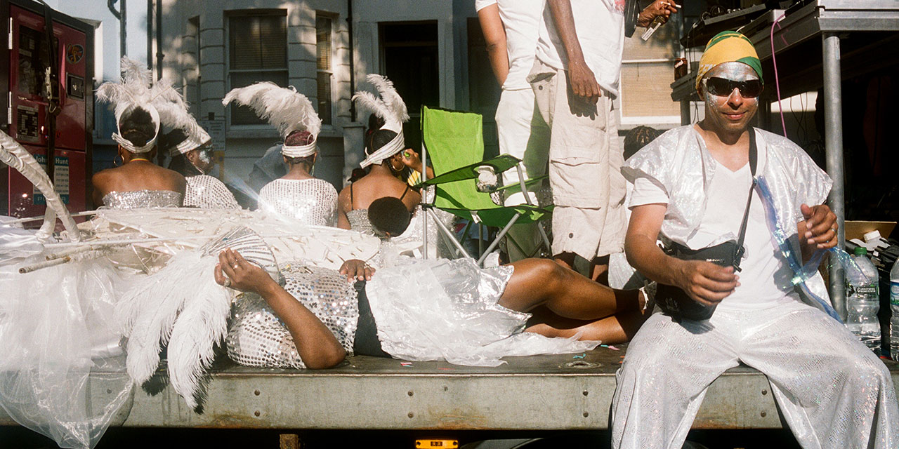 Menschem beim Notting Hill Carnival