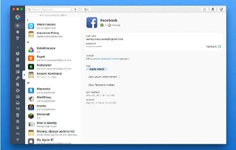 1Password Screen auf Mac