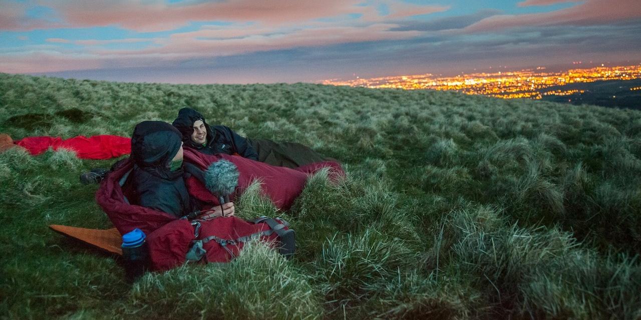 Camping out at night