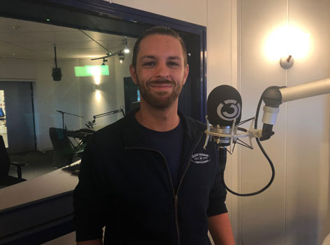 Christoph im Ö3-Studio