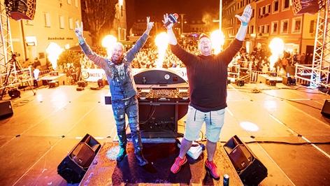 Darius & Finlay auf der Ö3-Bühne beim Dolomitenmann
