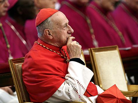 Kardinal Roger Etchegaray im Jahr 2005