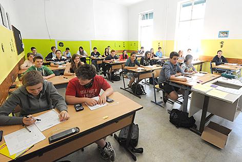 Schüler in eienr AHS-Klasse