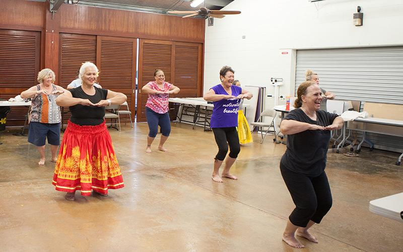 Hula-Tanz auf Hawaii