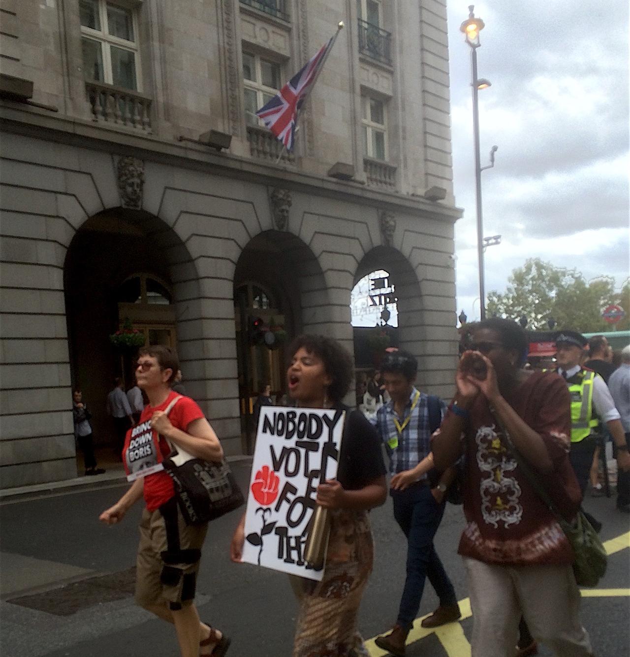 Anti-No-Deal-Marsch in London letzten Samstag