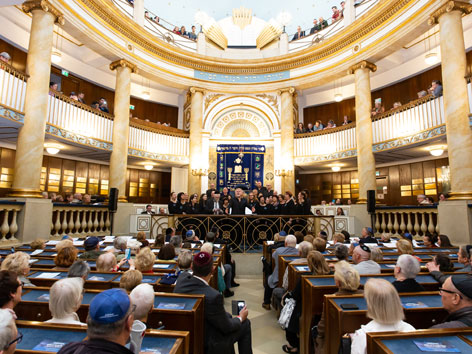 Chor in der Synagoge der IKG Wien