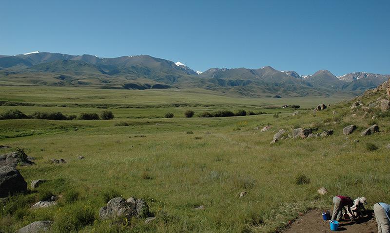 Archäologische Fundstätte in Kasachstan
