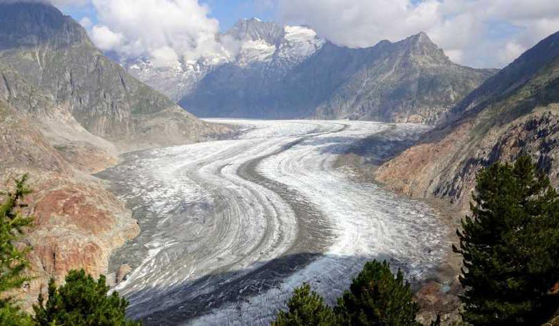 Blick auf den Großen Aletschgletscher