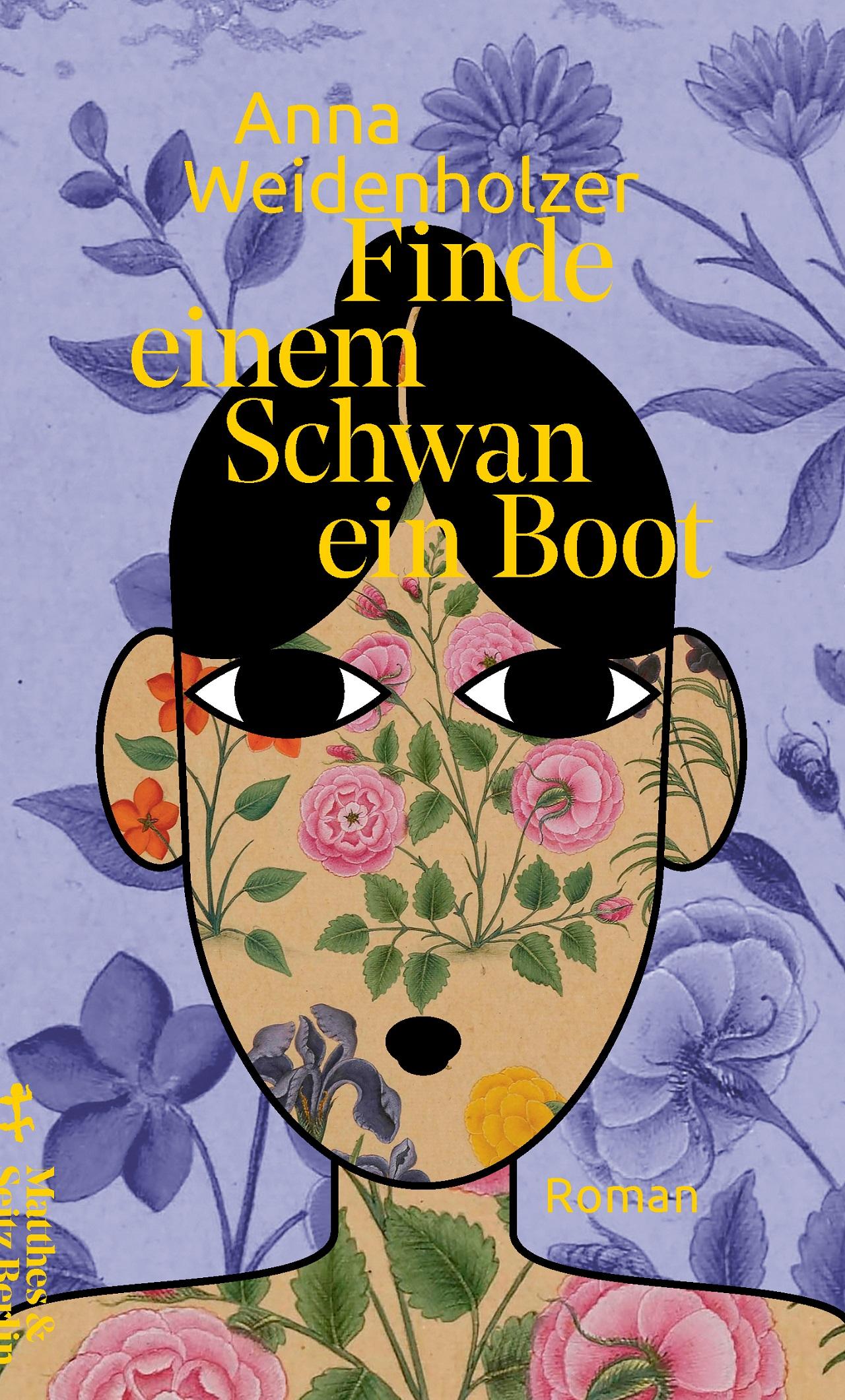 Eine Zeichnung einer Frau und Blumen ist am Cover des Buchs