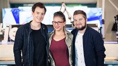 Philipp Hansa, Sabine Hackl und Tarek Adamski