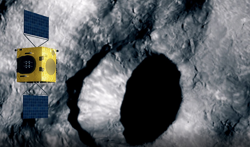ESA-Satellit Hera umkreist einen Asteroiden