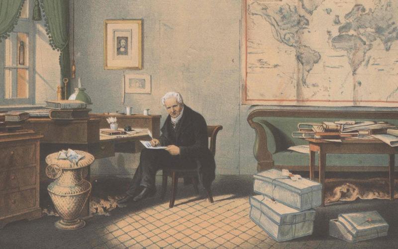 Alexander von Humboldt in seinem Arbeitszimmer