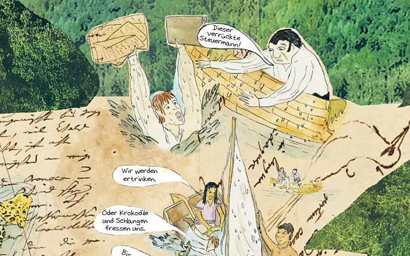 Ausschnitt aus dem Humboldt-Comic