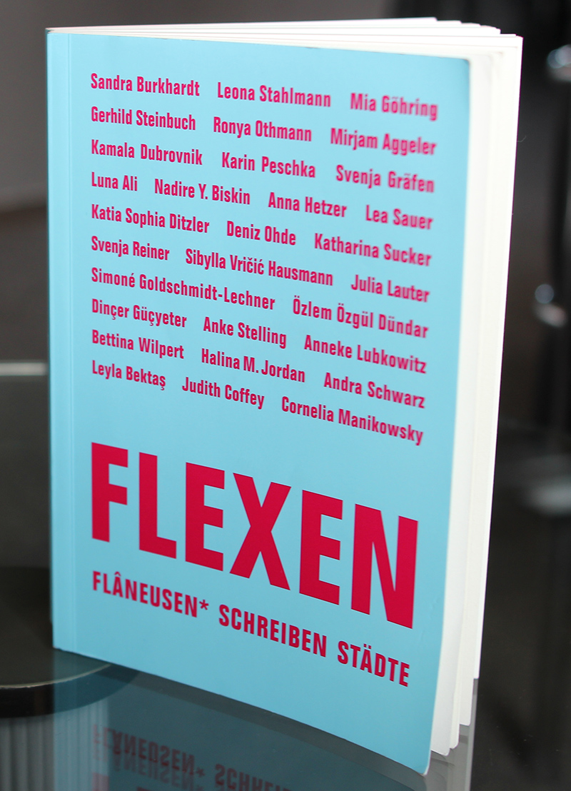 """Buchcover mit Titel """"Flexen"""""""