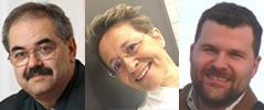 Porträtfotos von Herbert Kalb, Anita Ziegerhofer und Thomas Olechowsk