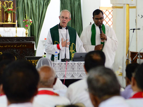 Anglikaner-Primas Justin Welby in Indien
