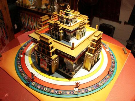 Ein 3-D-Modell des Kalachakra-Mandalas