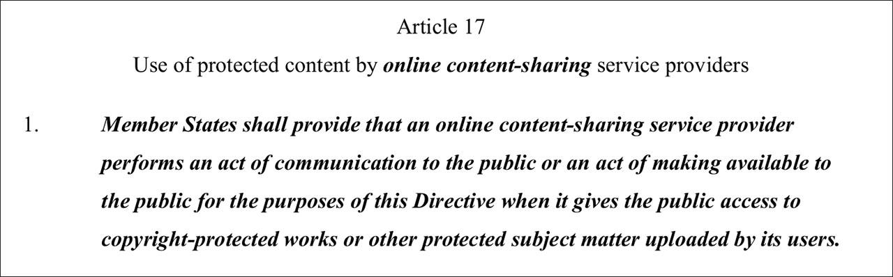 Copyright directive