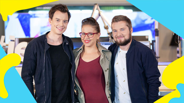 Philipp Hansa, Tarek Adamski und Sabine Hackl
