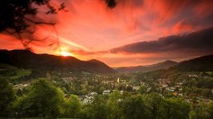 Sonnenuntergang in Payerbach