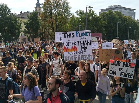 Earth Strike in Linz