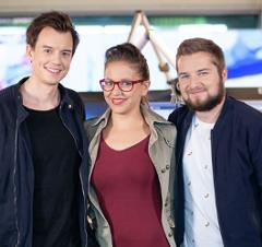 Sabine Hackl, Tarek Adamski und Philipp Hansa