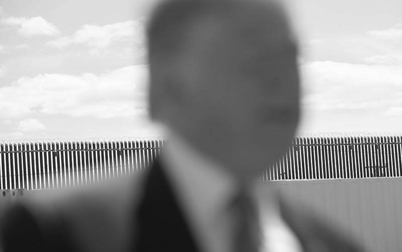 US-Präsident Donald Trump vor der Mauer zu Mexiko