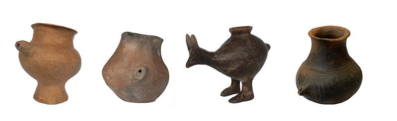 Urzeitliche Babyfläschchen sind teilweise Tierkörpern nachempfunden
