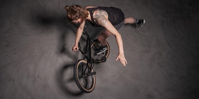 Irina Sadovnik am BMX
