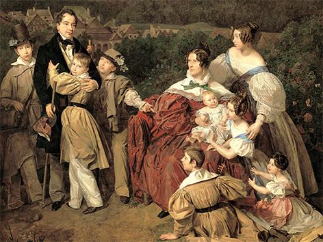 Ferdinand Waldmüller: Familie Eltz, 1835 (Ausschnitt), Belvedere, Wien