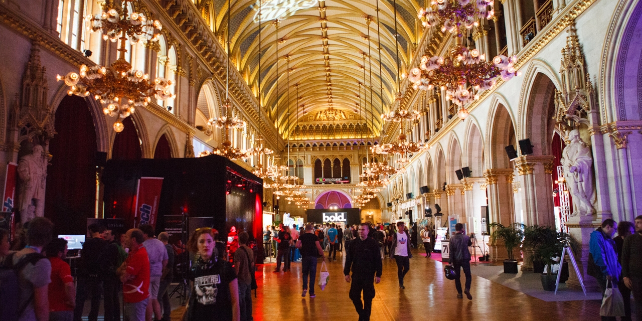 Rathaus Festsaal im Rahmen der Game City 2019