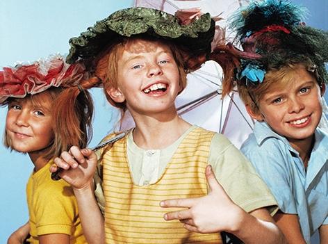 Pippi Langstrumpf mit Tommy und Annika