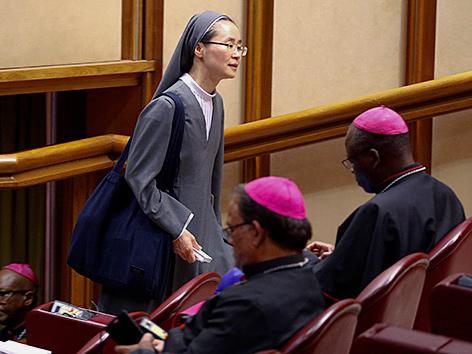 Die koreanische Ordensfrau Mina Kwon bei der Jugendsynode im Vatikan