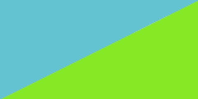 Türkis und Grün