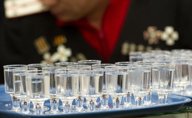 Das russische Nationalgetränk Wodka