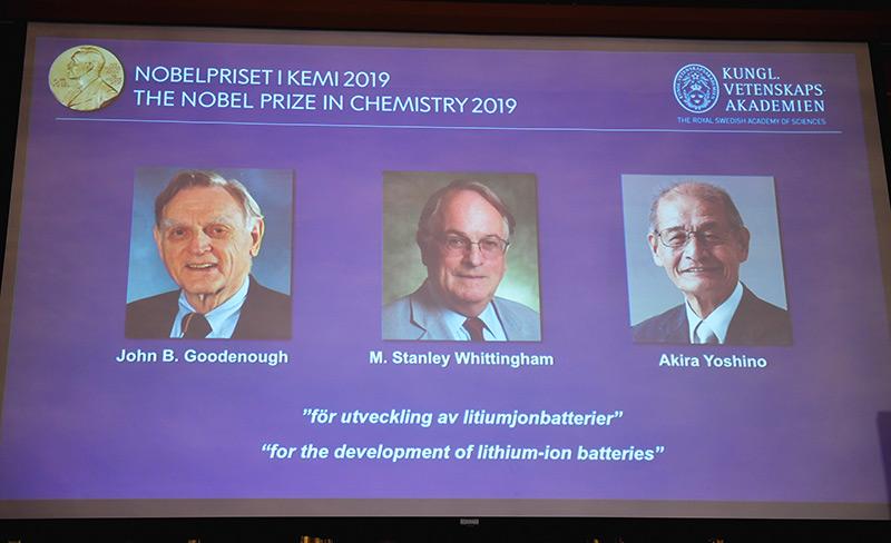 Die drei Chemienobelpreisträger 2019