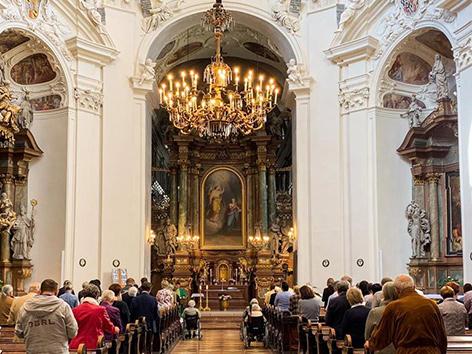 Demenzfreundliche Gottesdienst in der Servitenkirche im 9. Bezirk in Wien, 2019