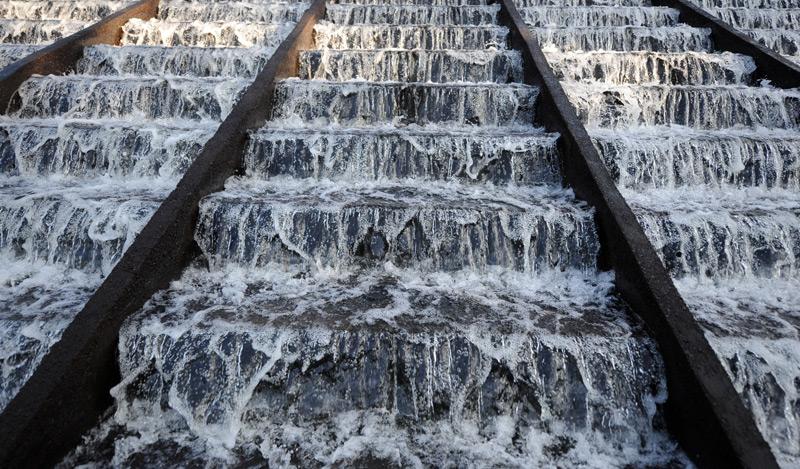 Wasser in Kläranlage