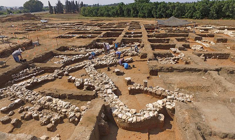 Bild der Ausgrabungsstätte in Israel