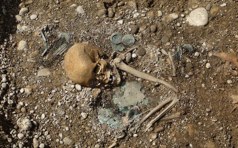 Diese Bestattung einer Frau ist eine der reichsten bekannten Bestattungen Süddeutschlands.