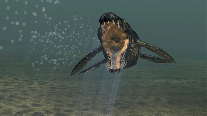 Rekonstruktion eines Pliosauriers